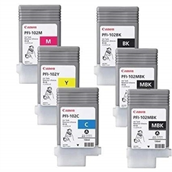 PFI-102Y ink for iPF-500 iPF-600 iPF-700, yellow, 0898B001AA