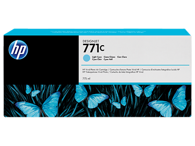 HP 771C Ink Light Cyan 775-ml Designjet Z6200,B6Y12A