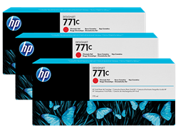 HP 771C Ink Chromatic Red 3pack 775-ml Designjet Z6200,B6Y32A