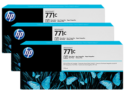 HP 771C Ink Photo Black 3pack 775-ml Designjet Z6200,B6Y37A