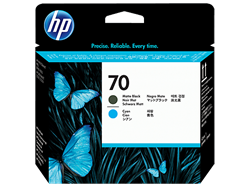 HP 70 Printhead DJ Z2100 PS B9180 matte black + cyan,C9404A