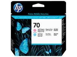 HP 70 Printhead DJ Z2100 PS B9180 light cyan + light magenta,C9405A
