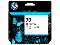 HP 70 Printhead DJ Z2100 PS B9180 magenta + yellow,C9406A