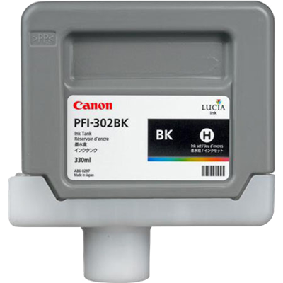 CANON ink tank black PFI-302BK 330 ml for iPF-8xxx and iPF-9xxx series, 2216B001AA