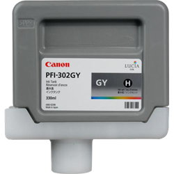 CANON ink tank grey PFI-302GY 330 ml for iPF-8xxx and iPF-9xxx series, 2217B001AA