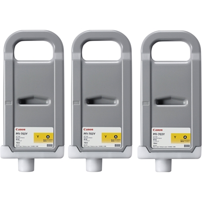 CANON 3x PFI-703Y ink yellow Multipack, 2966B003