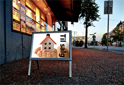 Gadeskilte A3 -  LED lys -  Mini Sign -  Sølv