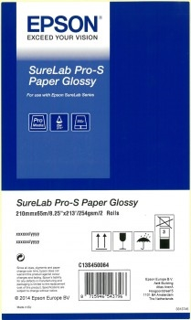 EPSON SureLab Pro-S Paper Glossy A4x65 2 rolls