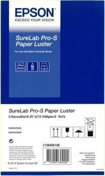 EPSON SureLab Pro-S Paper Luster A4x65 2 rolls