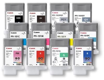 PFI-101BK ink for iPF-5000, black, 0883B001AA