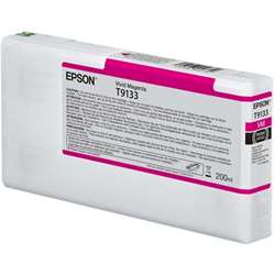 T9133 Vivid Magenta Ink Cartridge (200ml) , C13T913300T9133