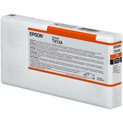 T913A Orange Ink Cartridge (200ml), C13T913A00T913A