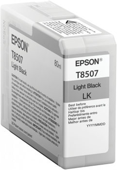 T8507 Light Black UltraChrome HD ink 80ml, C13T850700