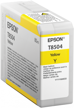 T8504 Yellow UltraChrome HD ink 80ml, C13T850400